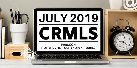 CRMLS: Paragon Hot Sheets / Tours / Open Houses - PSAR SOUTH COUNTY tickets