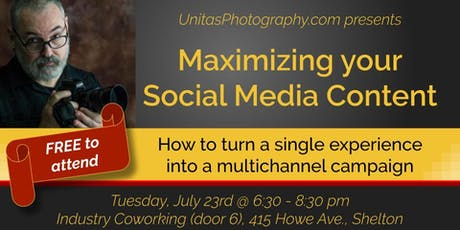 Maximizing Your Social Media Content tickets
