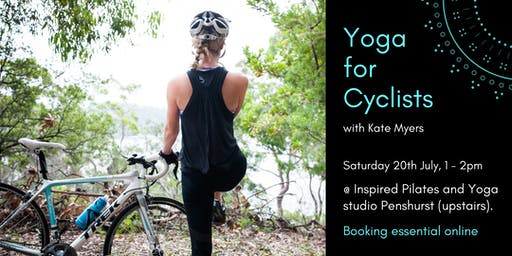 Yoga for Cyclists with Kate Myers 20th July 1-2pm