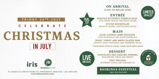 Christmas in July at the General Bourke