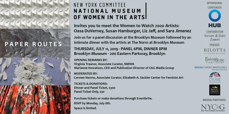 New York Committee's NMWA Women to Watch Artists Panel tickets