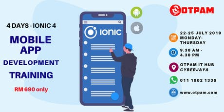 4 Days Ionic 4 Mobile Application Development Training (iOS & Android) tickets