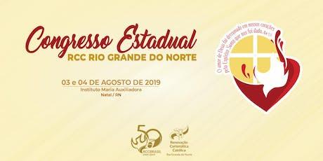 Congresso Estadual da RCC RN 2019 ingressos