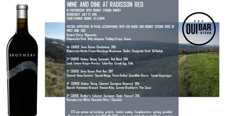 WINE AND DINE AT RADISSON RED  tickets