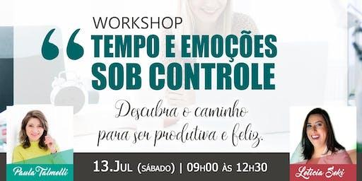 Worskhop Tempo e Emoções sob controle