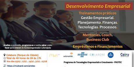 PROTEC - Programa de Tecnologias Empresariais e Crescimento ingressos
