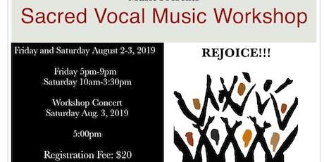 Sacred Vocal Music Workshop tickets