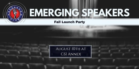 Emerging Speakers: Fall Launch Party tickets