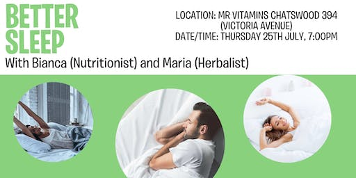 Better Sleep for Health @ Mr Vitamins with Bianca and Maria