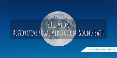 Full Moon Restorative Yoga, Guided Meditation & Sound Bath tickets