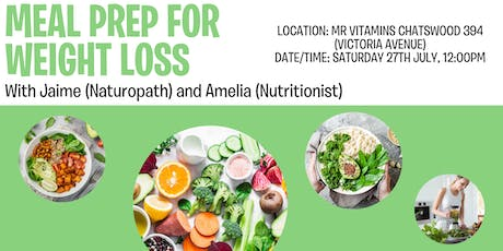 Meal Prep for Weight Loss @ Mr Vitamins with Amelia and Jaime tickets