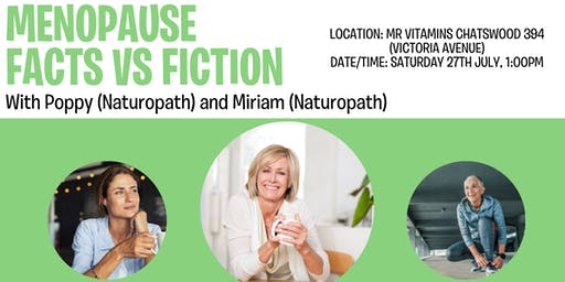 Menopause: Fact v Fiction @ Mr Vitamins with Miriam and Poppy