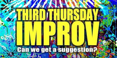 THIRD THURSDAY IMPROV SHOW tickets