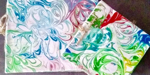 "Kids Open Session (11yrs+) ""Marbled Paper"""
