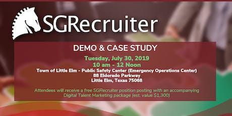 SGRecruiter Demo & Case Study tickets