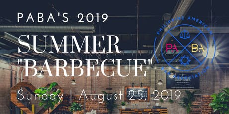 """PABA's 2019 Summer """"Barbecue"""" tickets"""