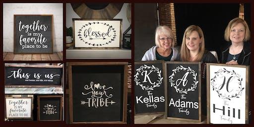 Custom Framed Wood Sign Workshop