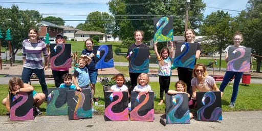 Wild & Wonderful Paint Parties July Summer Art Camp - Ages 7-13 2nd Session