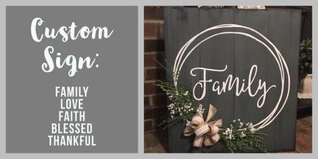 Custom Wood & Floral Sign  tickets