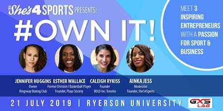 Own It! Meet Women Who Run Things In Business & Sport  tickets