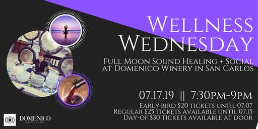 Wellness Wednesday - Full Moon Sound Healing + Social