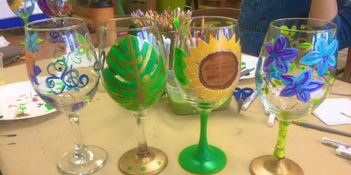 Wine Glass Painting - Express Yourself Studios, LLC - Maplewood, NJ
