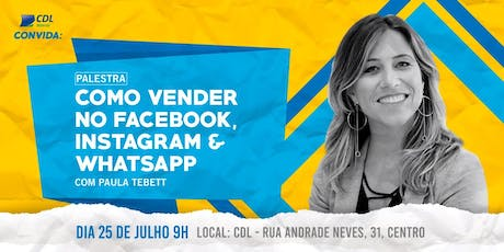 Como vender no Facebook, Instagram e WhatsApp ingressos