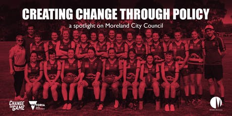 Creating Change Through Policy - Spotlight on Moreland City Council tickets