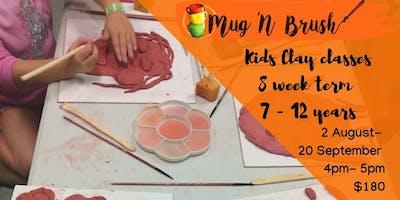 Kids Clay Classes - 8 Week term. Start 2 August