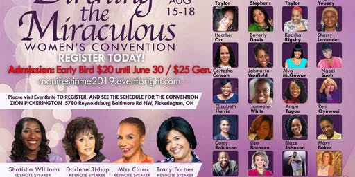 "MANIFEST IN ME 2019 CONVENTION  ""BIRTHING THE MIRACULOUS"""