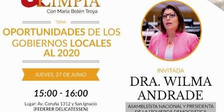CAIDAD Y LIMPIA, con Wilma Andrade - Gobiernos Locales 2020 entradas