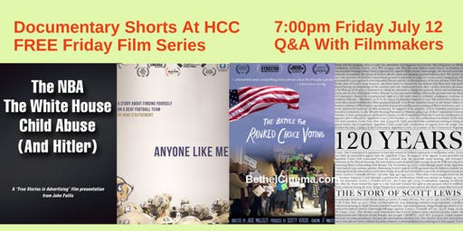 Documentary Shorts  HCC FREE Friday Films At The Performing Arts Center