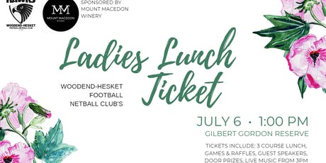 Woodend-Hesket Football Netball Club - Ladies Lunch tickets