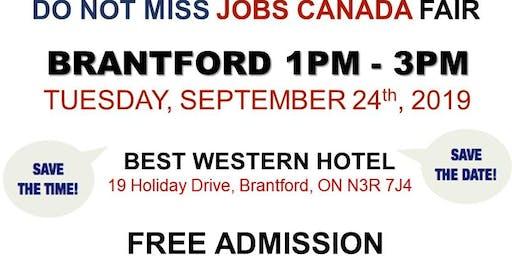 FREE: Brantford Job Fair– September 24th, 2019