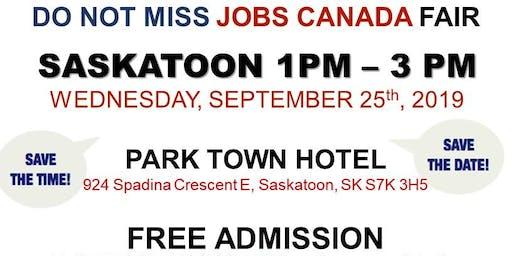 FREE: Saskatoon Job Fair – September 25th, 2019