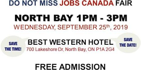 FREE: North Bay Job Fair – September 25th, 2019 tickets