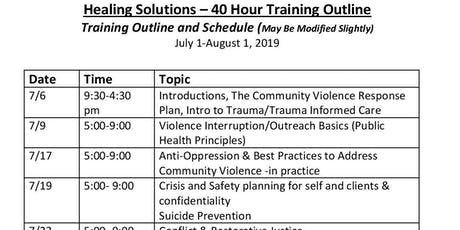 Healing Solutions Training- Summer Intensive  tickets