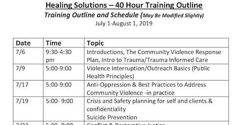 Healing Solutions Training- Summer Intensive