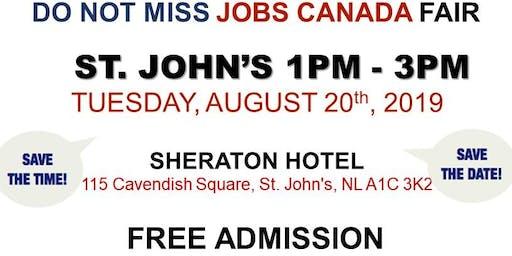 St. John's Job Fair - August 20th, 2019