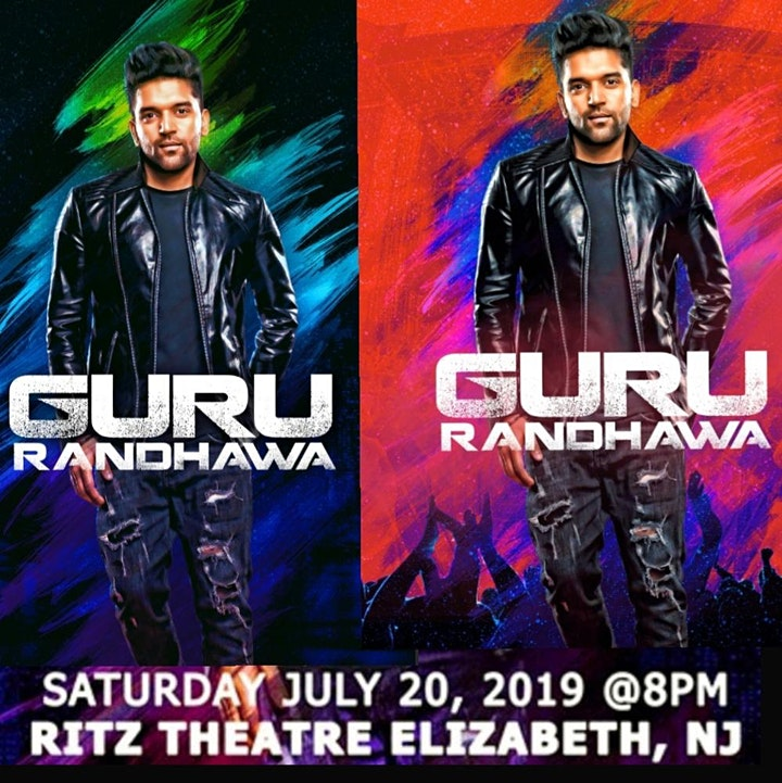 Official Live Guru Randhawa concert on 20th july in Ritz Theatre NJ-Buy now image