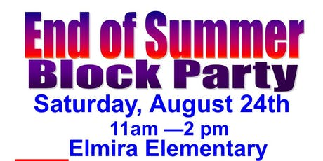 End of Summer Block Party tickets