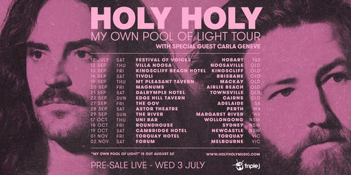 Holy Holy - In My Own Pool Of Light Tour | Torquay Hotel
