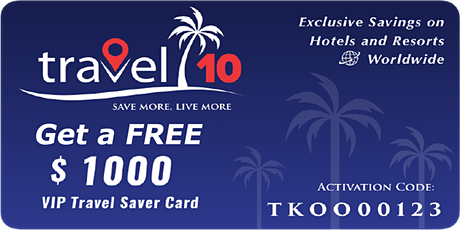 Travel 10 Save & Earn on Travel Bookings (SA) ingressos