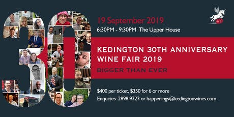 Kedington 30th Anniversary Wine Fair 2019 tickets