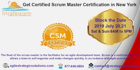 CERTIFIED SCRUM MASTER (CSM) Training in New york-July 20,21,2019  tickets