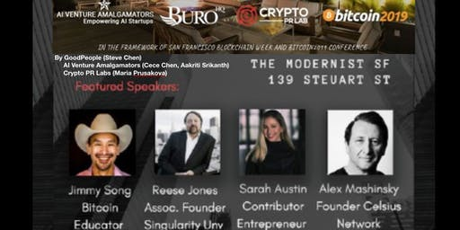 Bitcoin 2019 UnOfficial Afterparty by Crypto PR Lab, AI Venture Amalgamators and Sarah Austin