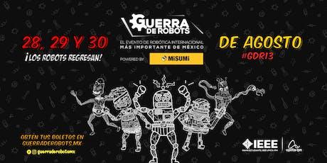 Guerra de Robots #GDR13 entradas