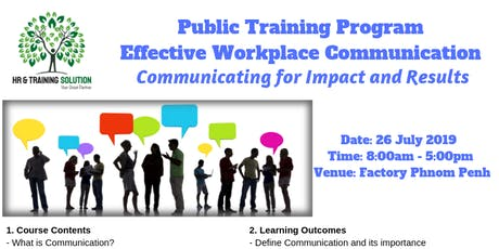 Effective Workplace Communication - Communicating for Impact and Results tickets