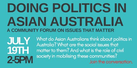 Doing Politics in Asian Australia: A Community Forum tickets