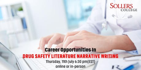Career Opportunities in Drug Safety Literature Narrative Writing tickets